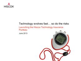Hiscox Tech Portfolio launch presentation June
