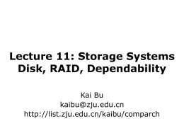 Lecture 11: Storage Systems
