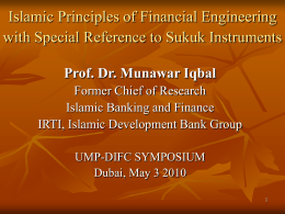 Session I - Prof Dr Munawar Iqbal