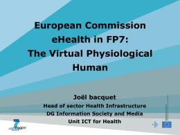 The Virtual Physiological Human