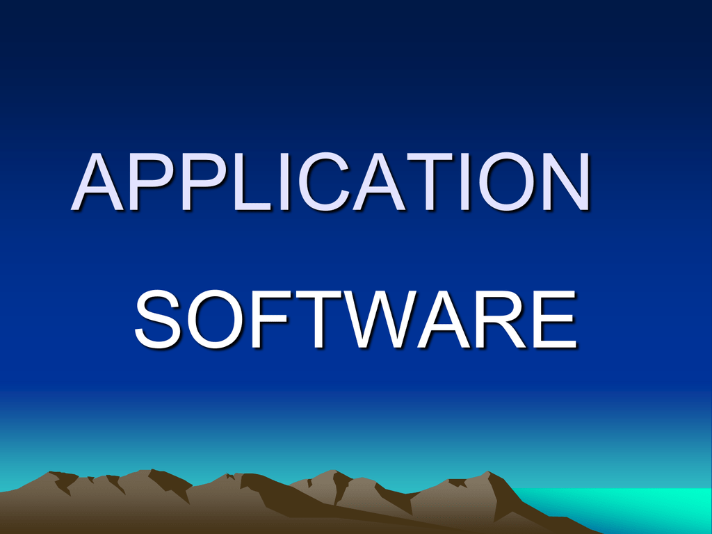Example of General purpose software