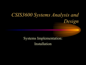 CSIS3600 Systems Analysis and Design