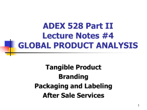 GLOBAL PRODUCT ANALYSIS