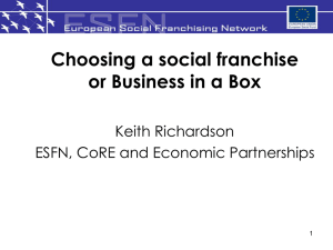 Presentation - European Social Franchising