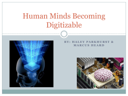 Human Minds Becoming Digitizable