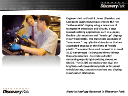 Nanotechnology Research in Discovery Park