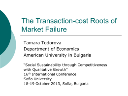 Transaction-cost Roots of Market Failure