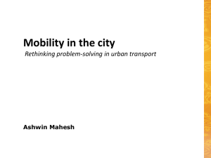 Mobility in the City