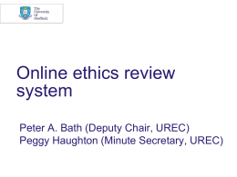 Online Ethics System - University of Sheffield