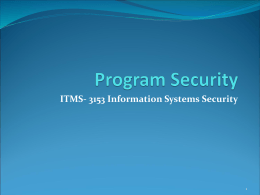 Program Security(power point)