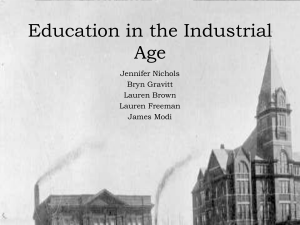 Education in the Industrial Age