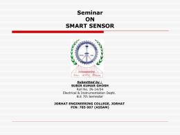 Seminar ON SMART SENSOR