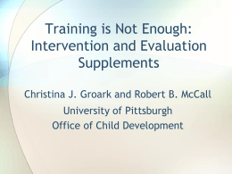 Intervention and Evaluation Supplements (PowerPoint)