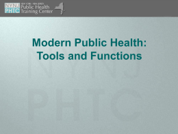 02ModPH - Empire State Public Health Training Center