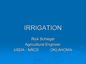 Irrigation System Improvement in Oklahoma