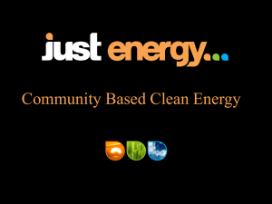 Community Based Clean Energy