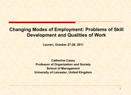 Changing modes of Employment