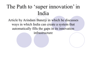 The path to `super innovation` in India