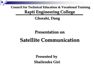 Satellite Communication - Rapti Engineering College