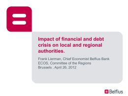 Impact of financial and debt crisis on local and regional authorities