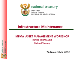 Infrastructure Management Presentation - MFMA