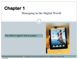 Week 02 – Managing in the Digital World