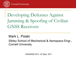 Developing Defenses Against Jamming & Spoofing of Civilian