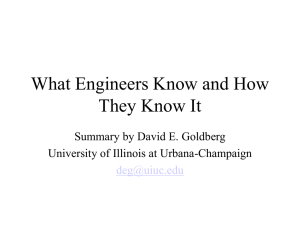 What Engineers Know DEG 2