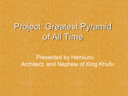 Great Pyramid presentation (PowerPoint file)