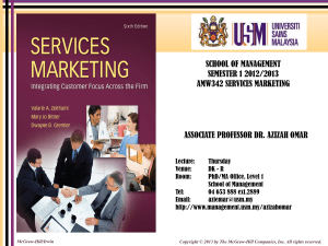 Services - School of Management