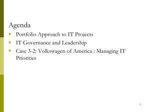 IT Project Profile, Governance and Leadership of the IT Function