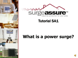 What is a power surge?