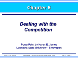 kotler08exs-Dealing with the Competition