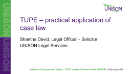 Shantha David The practical application of case law