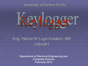 09-Keyloggers - Department of Electrical Engineering and