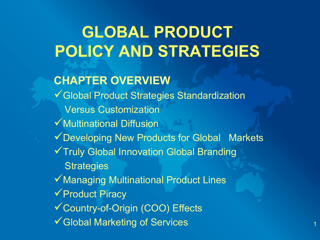 global marketing standardization