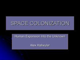 NMSU Slides on Space Colonization