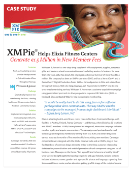 Case Study - XMPie®Helps Elixia Fitness Centers Generate