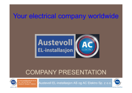 Your electrical company worldwide