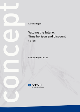 Valuing the future. Time horizon and discount rates - Concept