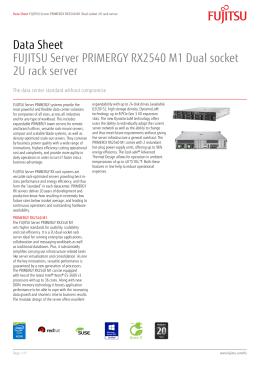 Primergy rx2540 m1 datasheet
