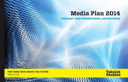 Media Plan 2014 - Annonsere