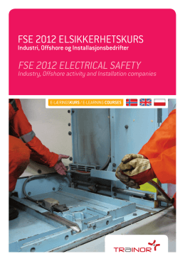 fse 2012 elsikkerhetskurs fse 2012 electrical safety