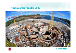 Third quarter results 2013