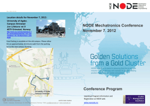 NODE Mechatronics Conference November 7. 2012 Conference