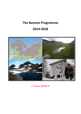 The Barents Programme 2014-2018