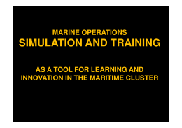 SIMULATION AND TRAINING