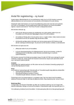 Avtal för registrering
