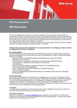 Flint Group söker HR Generalist