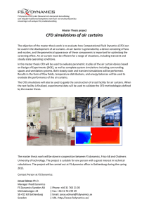 CFD simulations of air curtains